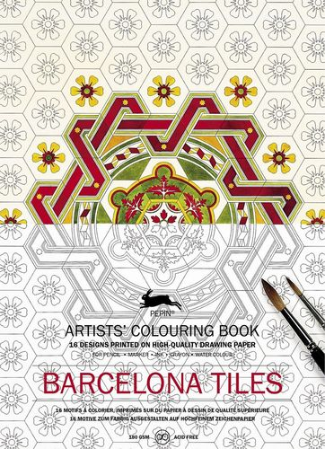 Colouring Book Barcelona Tiles